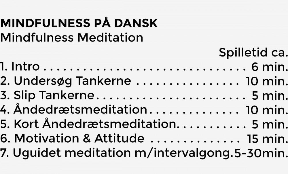 Indhold Meditation CD