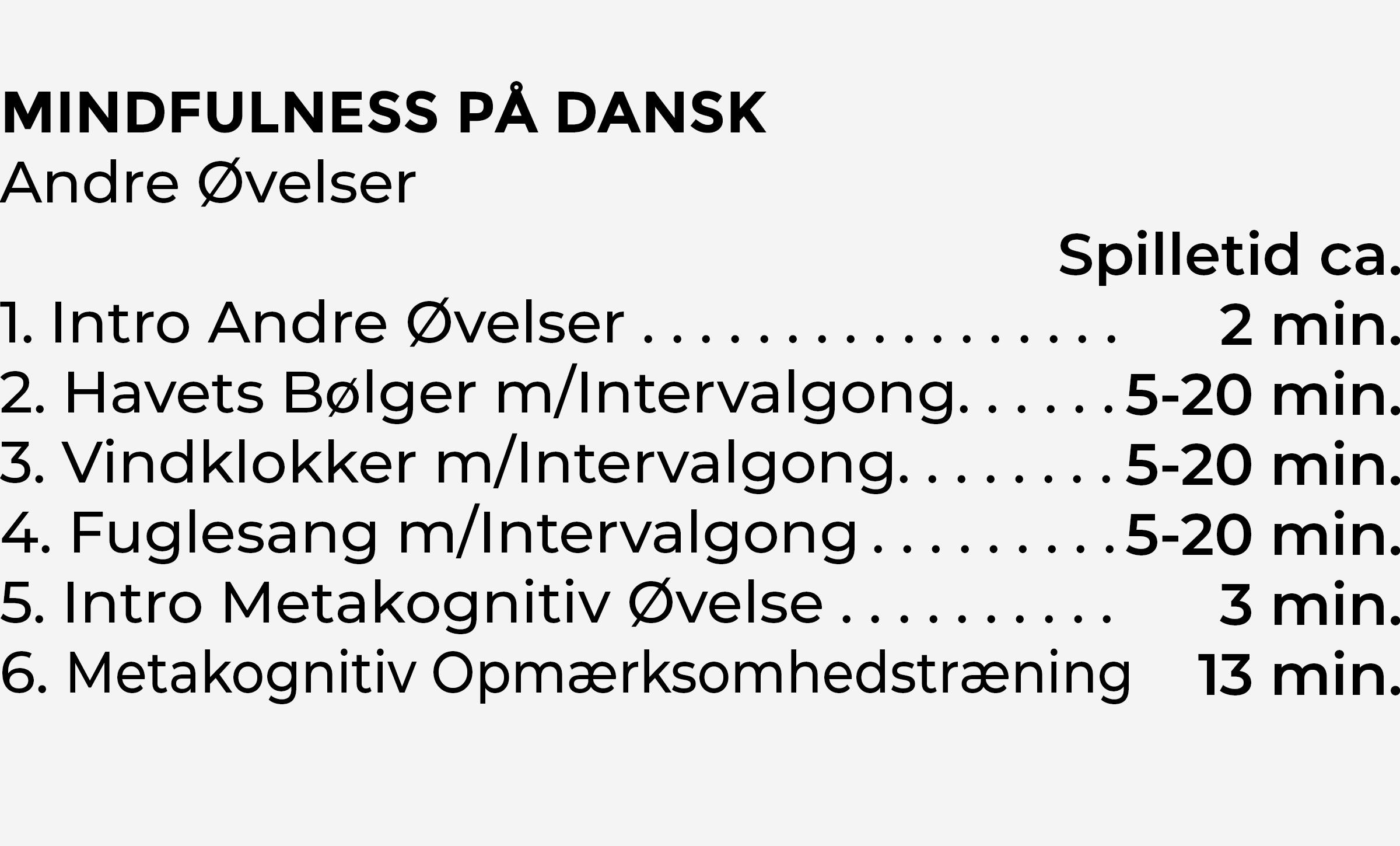 Indhold Andre Øvelser