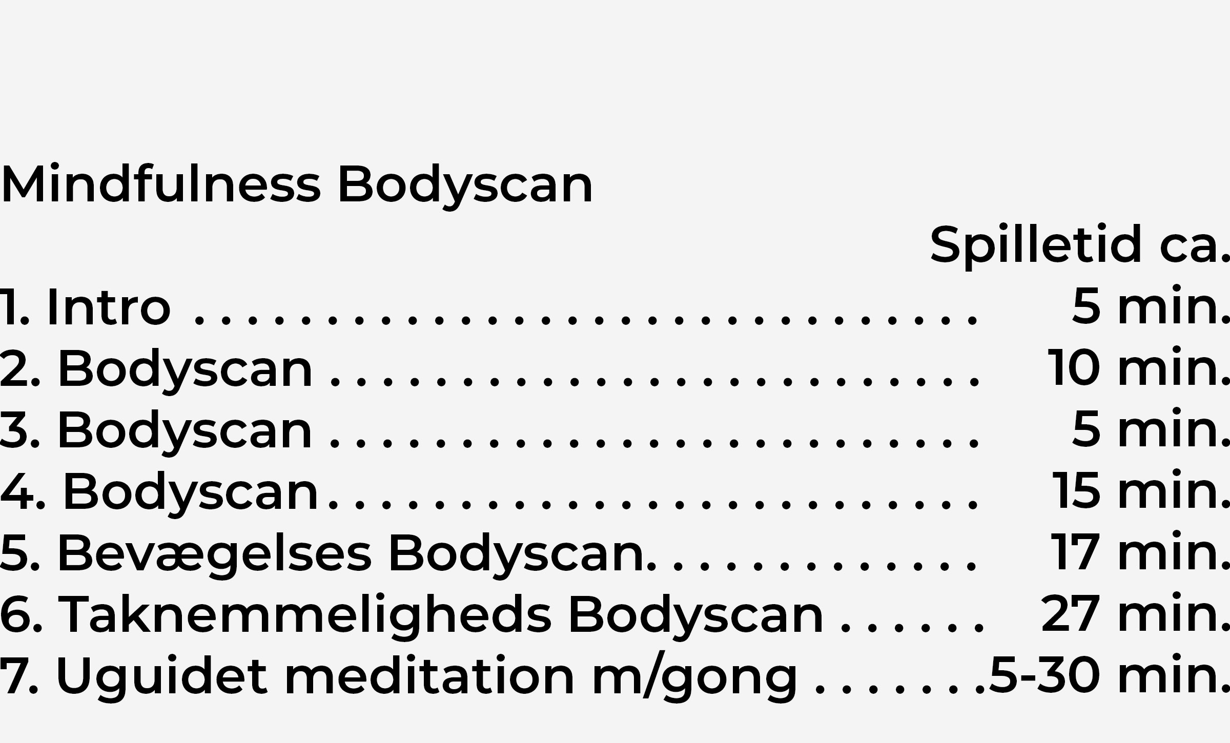 Indhold Bodyscan CD2
