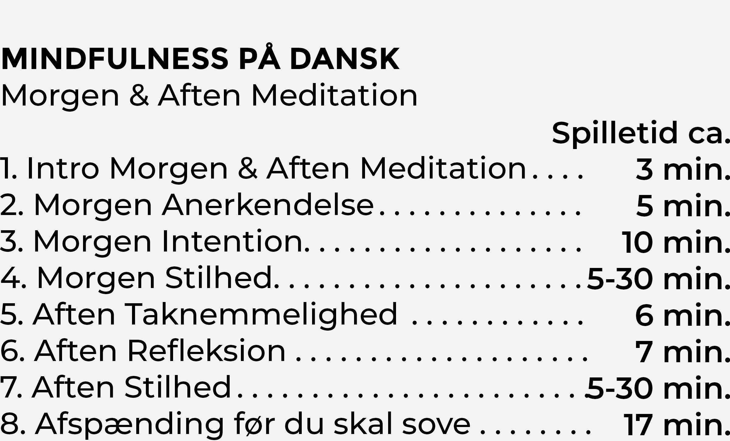 Indhold Morgen og Aften Meditation