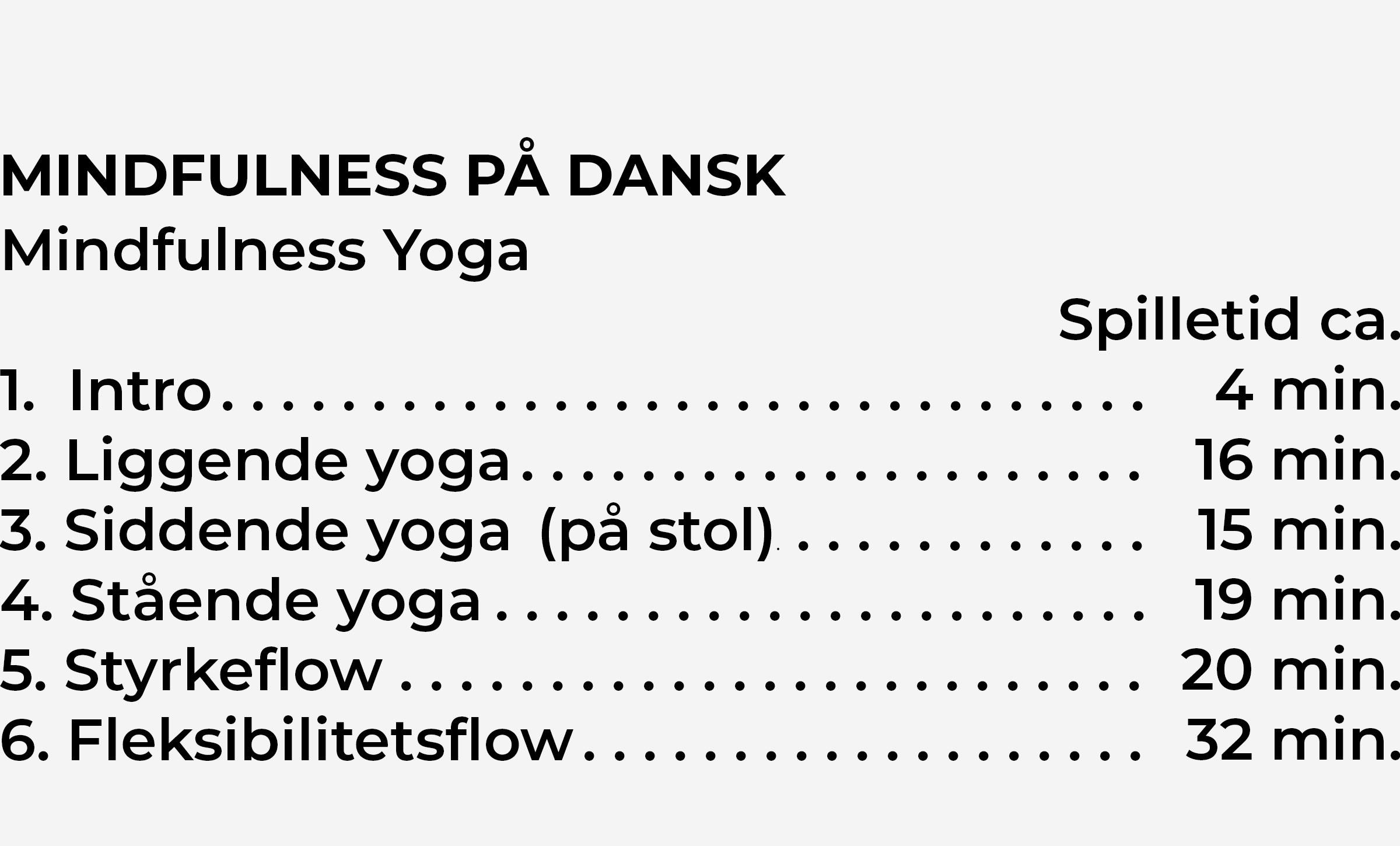 Indhold Yoga CD2