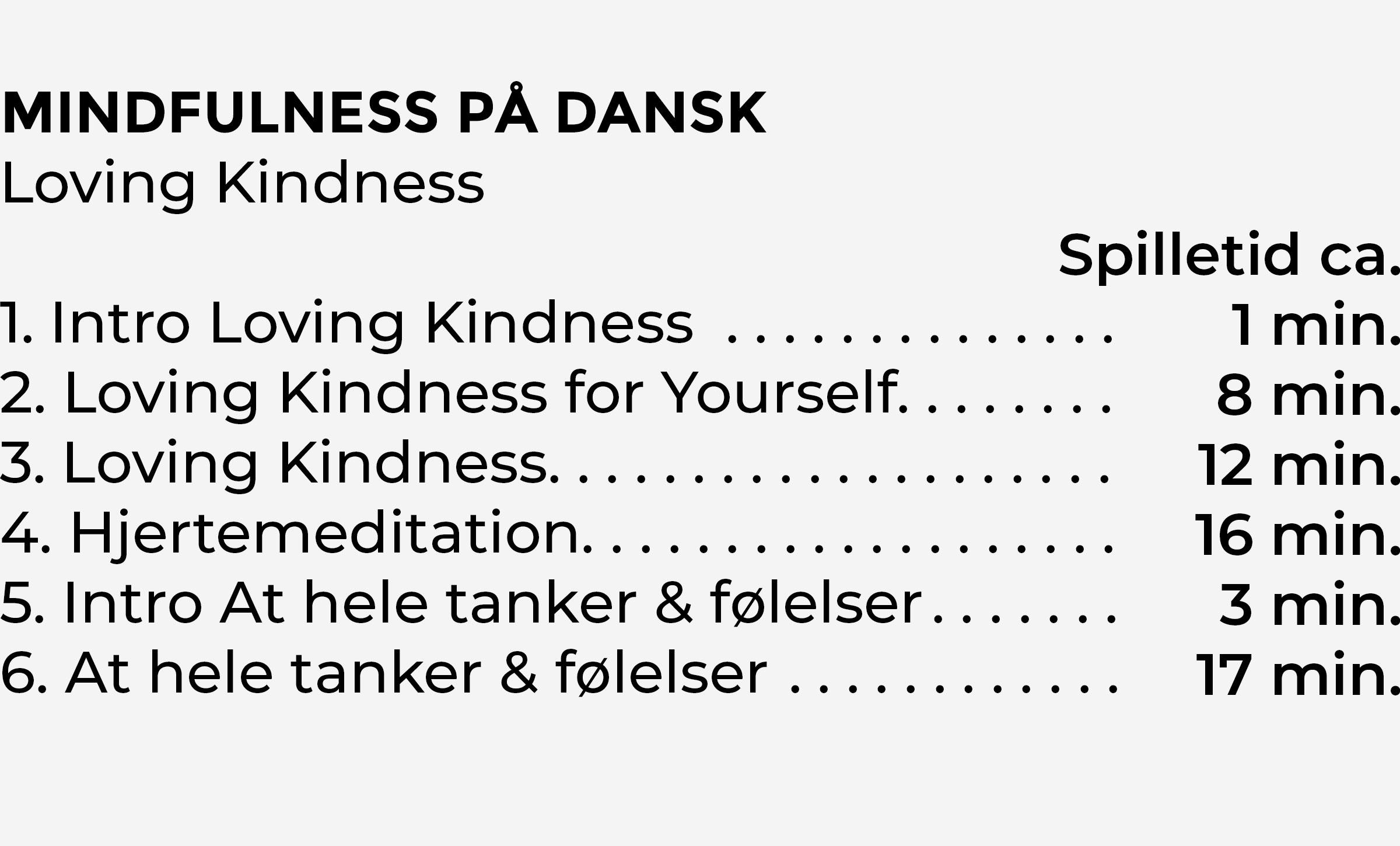 Indhold Lovind Kindness CD